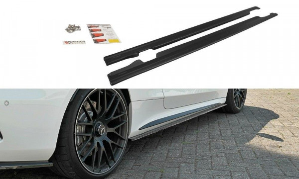 Seitenschweller Ansatz Passend Für Mercedes C-Klasse C205 63 AMG Coupe Schwarz Matt