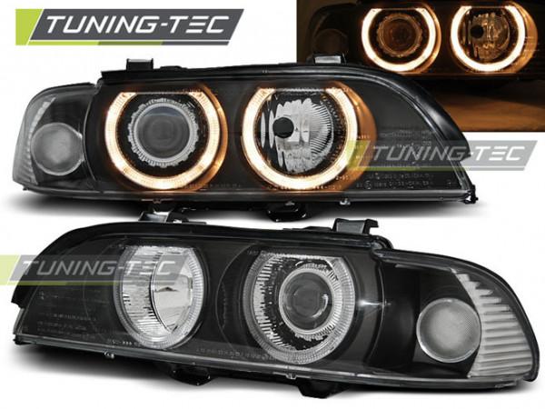 Scheinwerfer Angel Eyes schwarz passend für BMW E39 09.95-06.03