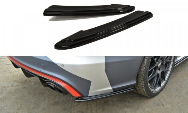 Heck Ansatz Flaps Diffusor Passend Für AUDI RS6 C7 Carbon Look
