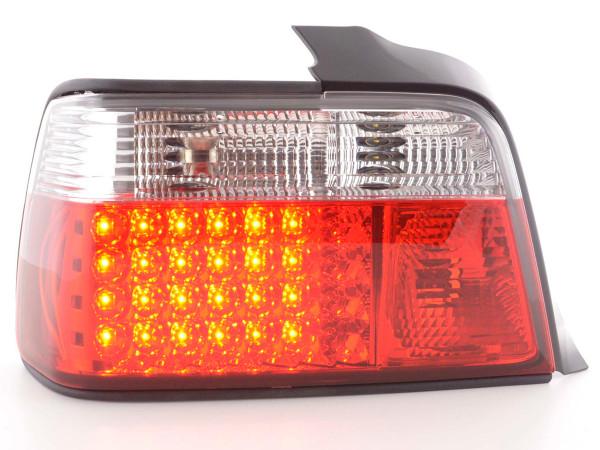 LED Rückleuchten Set BMW 3er Limousine Typ E36 Bj. 91-98 rot/weiß