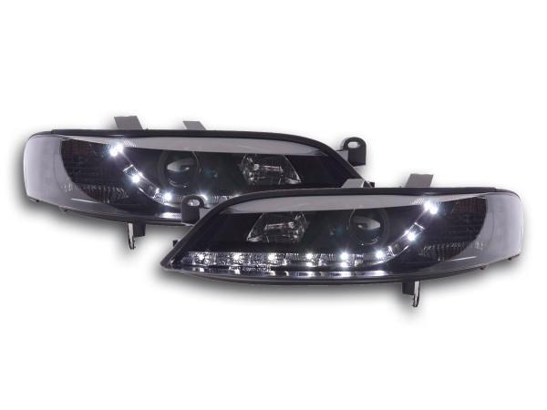 Scheinwerfer Set Daylight LED TFL-Optik Opel Vectra B Bj. 99-02 schwarz