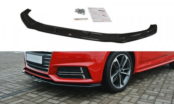 Front Ansatz Passend Für V.2 Audi S4 / A4 S-Line B9 Schwarz Hochglanz