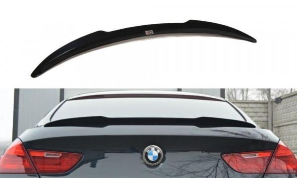 Spoiler CAP Passend Für BMW 6er Gran Coupé M Paket Schwarz Hochglanz