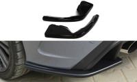 Heck Ansatz Flaps Diffusor Passend Für Passend Für Ford Focus RS Mk3 Schwarz Hochglanz