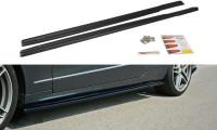 Seitenschweller Ansatz Passend Für Mercedes E W212 Schwarz Hochglanz