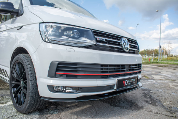 Front Ansatz V.2 Für Volkswagen T6 Schwarz Matt