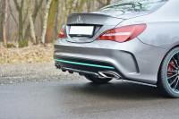 Diffusor Heck Ansatz Für Mercedes CLA C117 AMG-LINE FACELIFT Schwarz Hochglanz