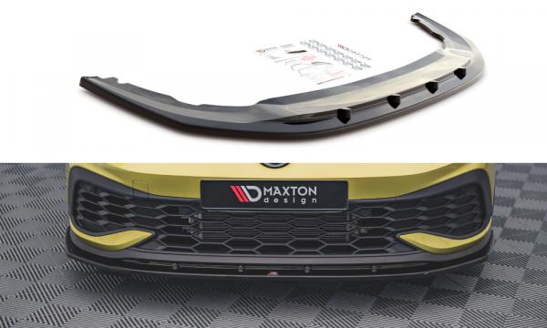 Front Ansatz V.4 Für Volkswagen Golf 8 GTI Clubsport Schwarz Matt
