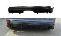 Diffusor Heck Ansatz Passend Für Ford Focus ST Mk3 FL (RS-Look) Schwarz Hochglanz