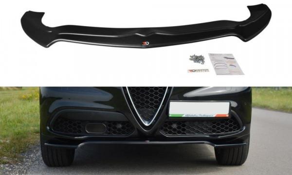 Front Ansatz Passend Für V.1 Alfa Romeo Stelvio Schwarz Hochglanz
