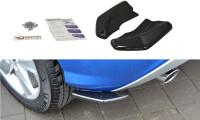 Heck Ansatz Flaps Diffusor Passend Für Audi Q2 Mk.1 Schwarz Hochglanz