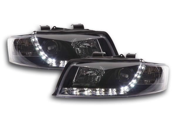 Scheinwerfer Set Daylight LED TFL-Optik Audi A4 Typ 8E 01-04 schwarz