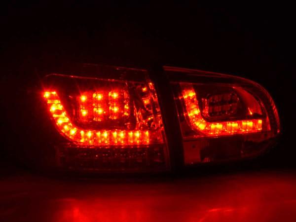 LED Rückleuchten Set VW Golf 6 Typ 1K Bj. 2008-2012 chrom mit Led Blinker