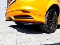 Heck Ansatz Flaps Diffusor Für Ford Focus ST Mk3 Hatchback Schwarz Hochglanz