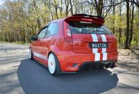 Diffusor Heck Ansatz Für Ford Fiesta ST Mk6 Schwarz Hochglanz