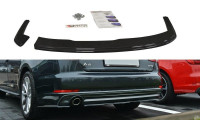 Heck Ansatz Flaps Diffusor Passend Für Audi A4 B9 S-Line Schwarz Matt