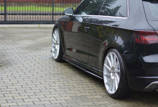 Seitenschweller Ansatz Für Audi S3 / A3 S-Line 8V / 8V FL Hatchback Schwarz Hochglanz