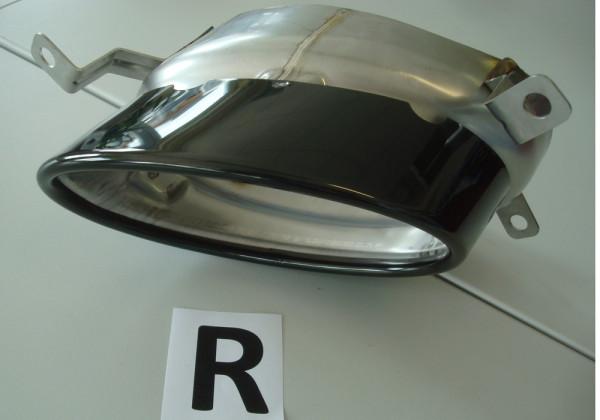 Endrohrblende rechts, schwarz, 185x120mm oval für Audi A5 S5 (B8/B81) Cabrio 10.11-06.16 (ab Facelif