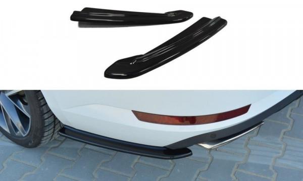 Heck Ansatz Flaps Diffusor Passend Für Skoda Superb Mk3 Hatchback / Kombi Schwarz Hochglanz