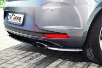 Heckansatz Seitenteile für Seat Leon 3 5F ab Bj. 2012- Ausführung: Matt schwarz