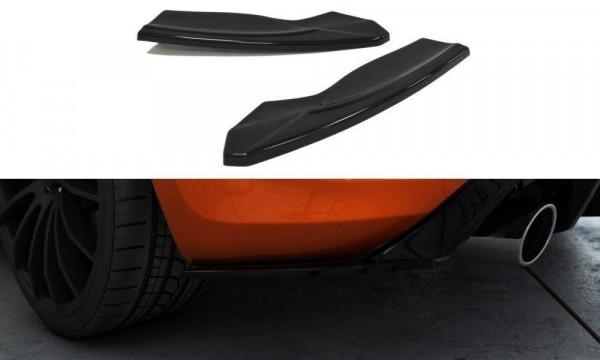 Heck Ansatz Flaps Diffusor Passend Für V.2 FORD FOCUS II ST Facelift Carbon Look