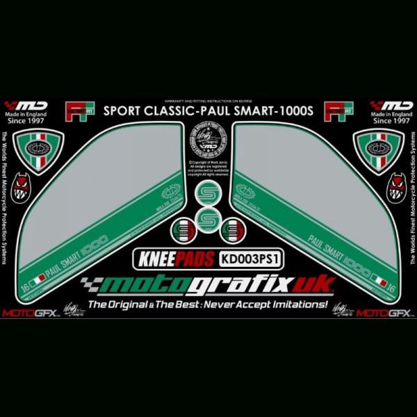 Motografix Tankschutz Knie Pads Ducati Sport Classic 1000 S KD003PS1