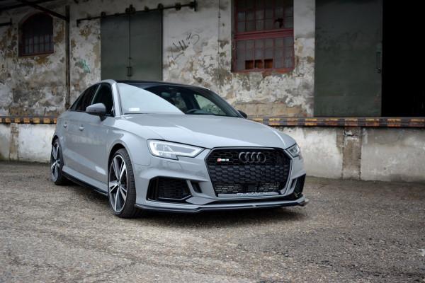 Front Ansatz V.2 Für Audi RS3 8V FL Sedan Schwarz Hochglanz