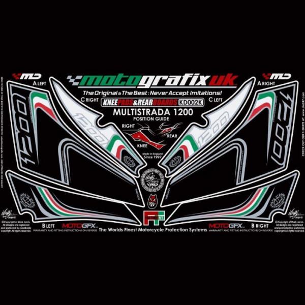 Motografix Steinschlagschutz Set Ducati Multistrada 1200 2010- KD002K