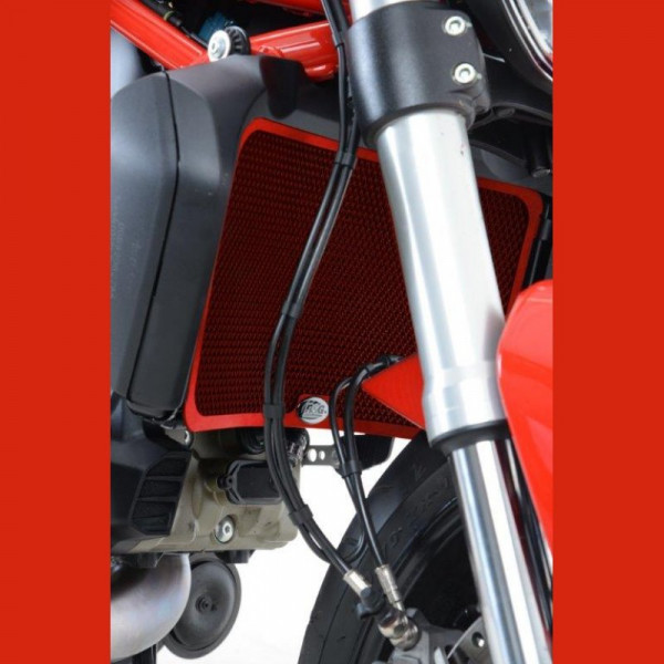 "R&G Kühlergitter ""RED"" Ducati Monster 1200 / 1200 R / Diavel 1260 2019-"