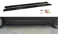 Seitenschweller Ansatz Passend Für Renault Laguna Mk 3 Coupe Schwarz Matt