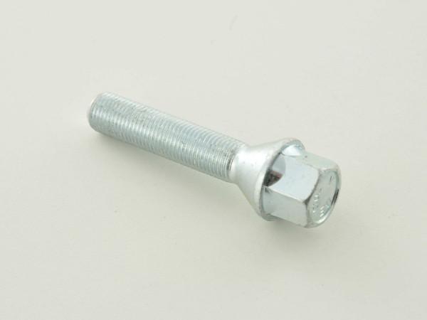 Radschraube einzeln Kegelbund Schaftlänge 50mm M12x1,25 silber