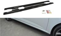 Seitenschweller Ansatz Passend Für Renault Megane Mk4 Hatchback Schwarz Hochglanz