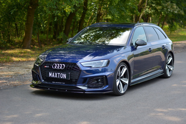 Front Ansatz V.1 Für Audi RS4 B9 Schwarz Hochglanz