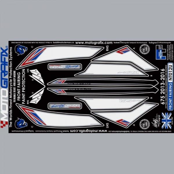 Motografix Steinschlagschutz vorn Triumph Daytona 675 2013- NT012U
