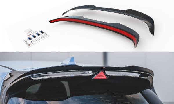 Spoiler CAP Passend Für V.2 Passend Für Hyundai I30 N Mk3 Hatchback Carbon Look Carbon Look