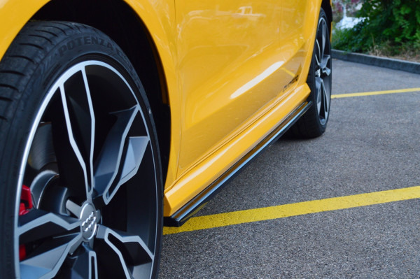 Seitenschweller Ansatz Für Audi S1 8X Schwarz Hochglanz