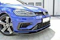 Front Ansatz Für V.1 VW GOLF 7 R Facelift Schwarz Matt