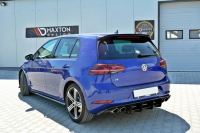 Spoiler CAP V.2 Für Volkswagen Golf 7 R/GTI Facelift Schwarz Matt