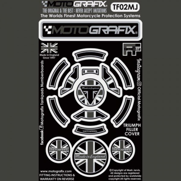 Motografix Tankdeckel Protektor Triumph Modelle TF02MJ