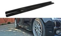 Seitenschweller Ansatz Passend Für Audi S5 / A5 / A5 S-Line 8T / 8T FL Schwarz Matt