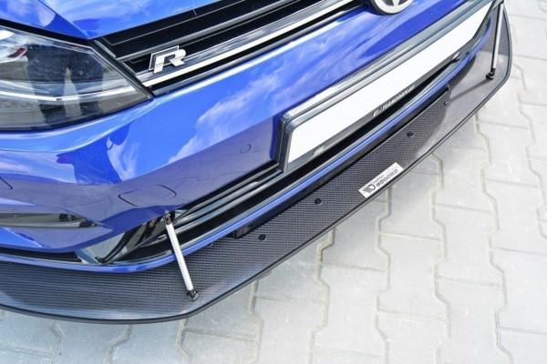 VW GOLF 7 R Facelift - HYBRID Racing Front Ansatz Passend Für Carbon Look