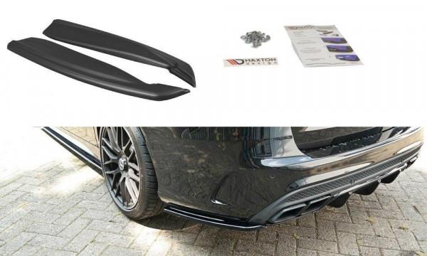 Heck Ansatz Flaps Diffusor Passend Für Mercedes C-Klasse S205 63 AMG Kombi Carbon Look