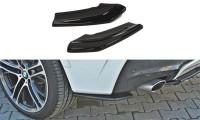 Heck Ansatz Flaps Diffusor Passend Für BMW X4 M Paket Schwarz Hochglanz