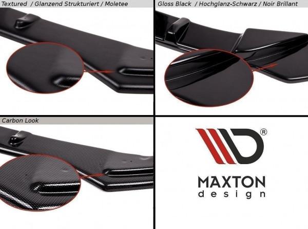 Heck Ansatz Flaps Diffusor Passend Für V.1 Seat Leon Mk3 Cupra Facelift Carbon Look