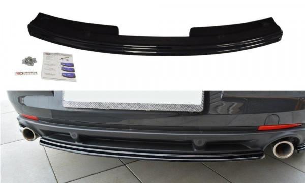 Mittlerer Diffusor Heck Ansatz Passend Für Renault Laguna Mk 3 Coupe Schwarz Matt