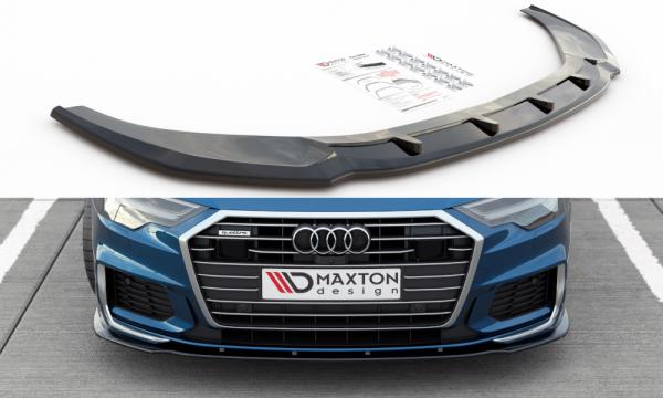 Front Ansatz Passend Für V.2 Audi A6 S-Line / S6 C8 Schwarz Hochglanz
