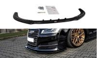 Front Ansatz Passend Für V.1 Audi S8 D4 FL Schwarz Hochglanz