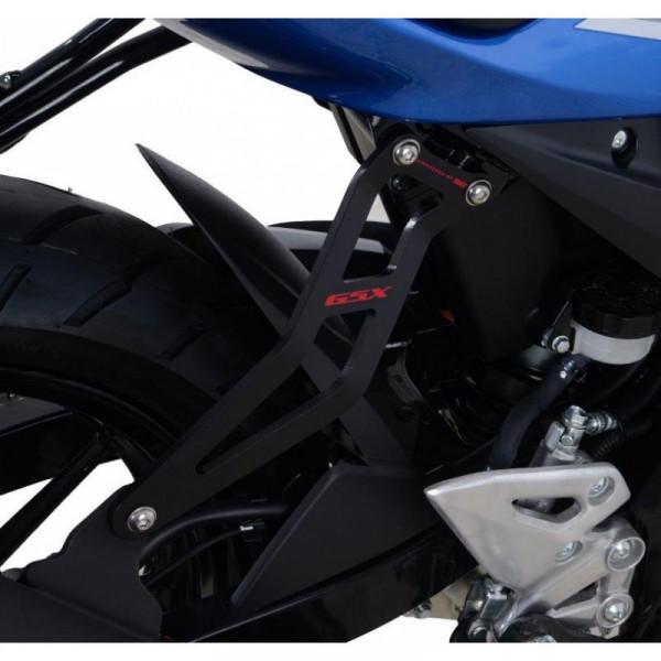 """R&G Racing Auspuffhalter Set """"RED"""" Suzuki GSX-S 125 / GSX-R 125 2017-"""