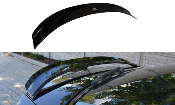 Spoiler CAP Passend Für Skoda Octavia RS Mk3 / Mk3 FL Hatchback Schwarz Hochglanz