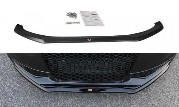 Front Ansatz Passend Für V.1 Audi S4 B8 FL Schwarz Hochglanz